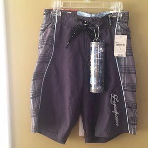 NWT boys microfiber swim shorts with free goggles